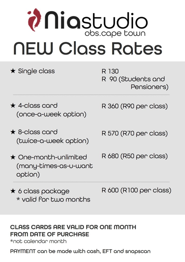 NEW class rates